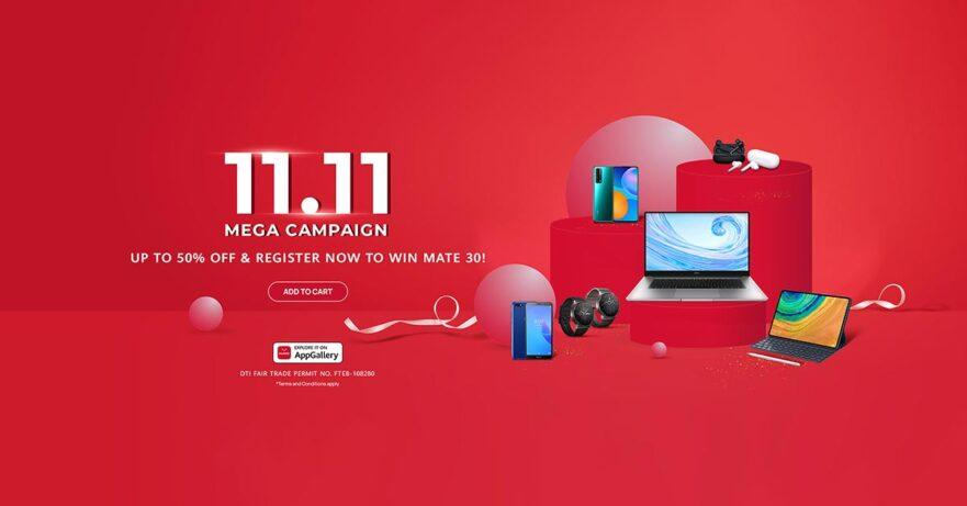 Huawei 11.11 Mega Campaign sale prices via Revu Philippines