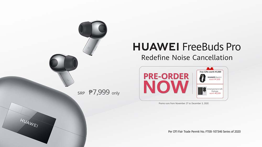 Huawei FreeBuds Pro price and preorder period and freebies via Revu Philippines