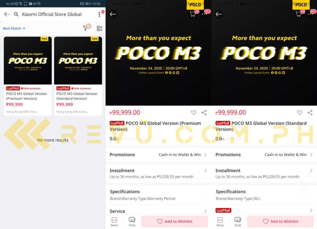 Xiaomi POCO M3 spotted Lazada listing, an exclusive of Revu Philippines