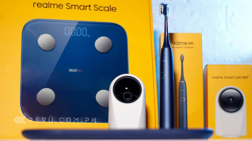 Realme M1 Sonic Electric Toothbrush, Realme Smart Scale, and Realme Smart Cam 360 Degrees price and specs via Revu Philippines