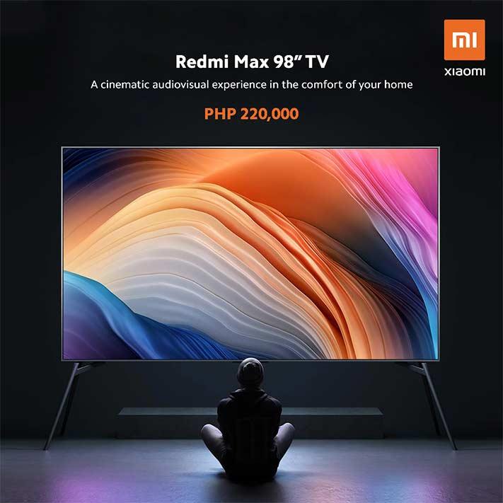 Redmi Max 98-inch TV price and specs via Revu Philippines