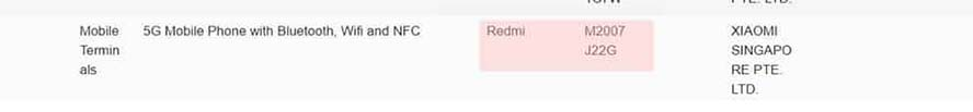 Redmi Note 10 5G global version spotted on Singapore's IMDA site via Revu Philippines