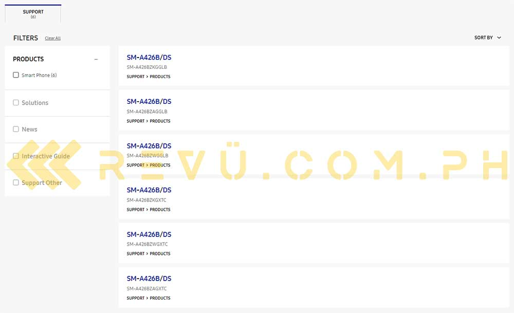 Samsung Galaxy A42 5G support pages spotted by Revu Philippines