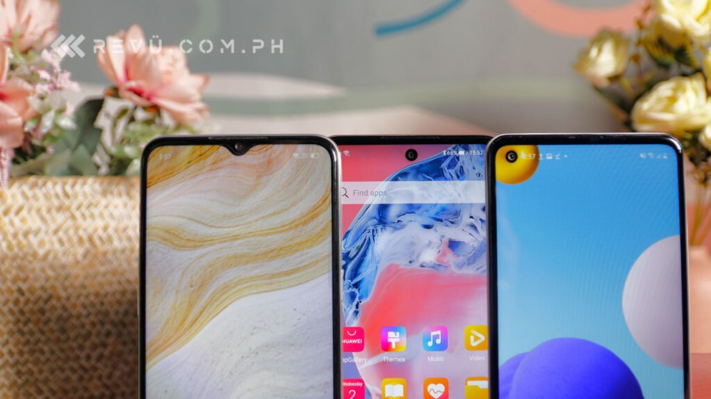 Huawei Y7a vs Samsung Galaxy A21s vs Realme 6i comparison review by Revu Philippines