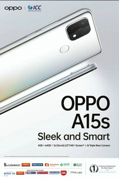 OPPO A15s price and specs via Revu Philippines