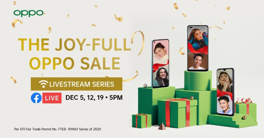 OPPO Joy-Full Sale livestream series show this Christmas 2020 season via Revu Philippines