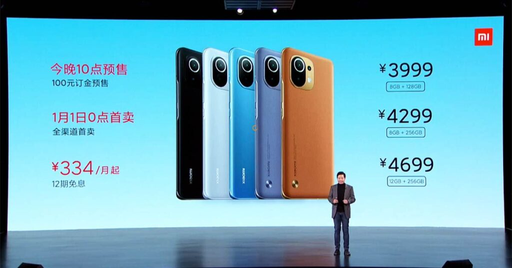 Xiaomi Mi 11 price, specs, and color variants via Revu Philippines