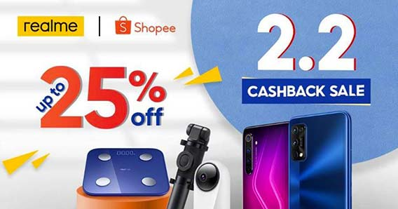 Realme products on sale at Shopee 2.2 Cashback Sale via Revu Philippines