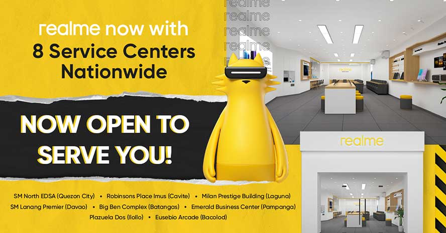 Realme service centers opened at the start of 2021 via Revu Philippines