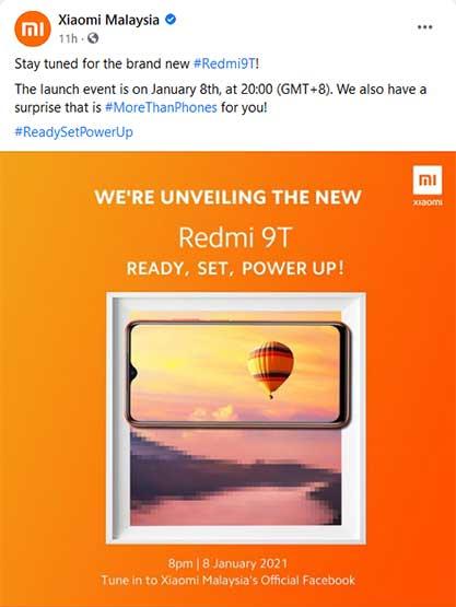 Xiaomi Redmi 9T launch date teaser via Revu Philippines