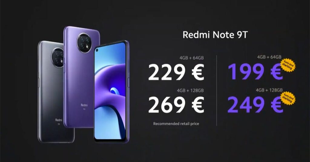Redmi Note 9T 5G price and specs via Revu Philippines