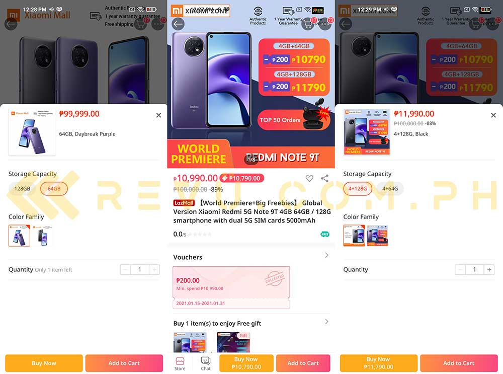 Exclusive: Redmi Note 9T 5G price and specs spotted on Lazada by Revu Philippines