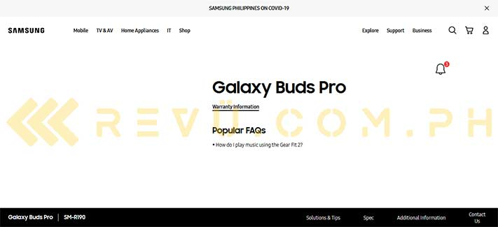 Samsung Galaxy Buds Pro spotted on Philippine site by Revu Philippines