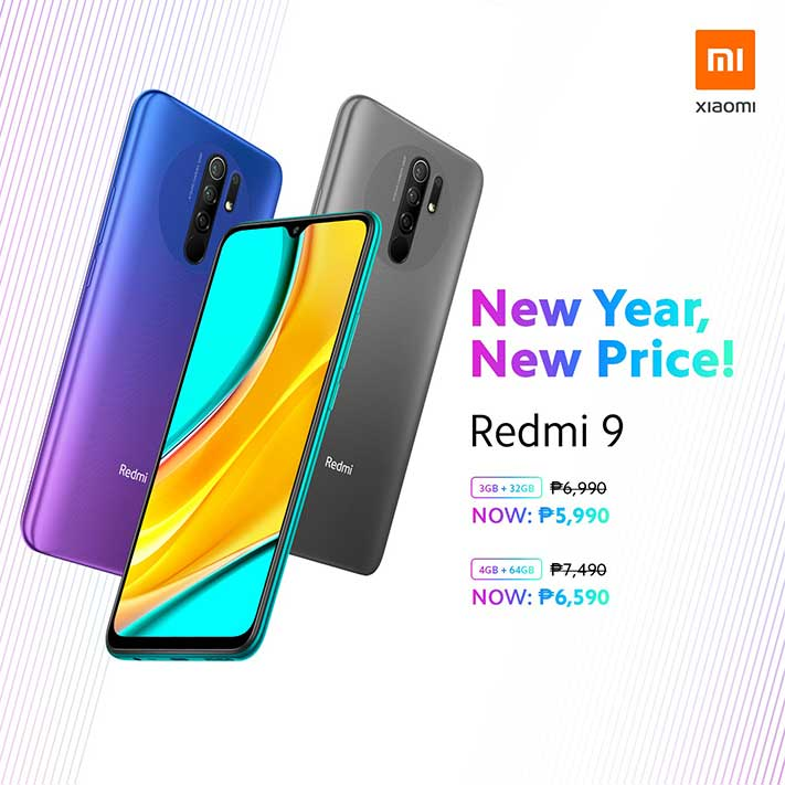 Xiaomi Redmi 9 new lower price at offline stores and kiosks as of Jan 3, 2020, via Revu Philippines