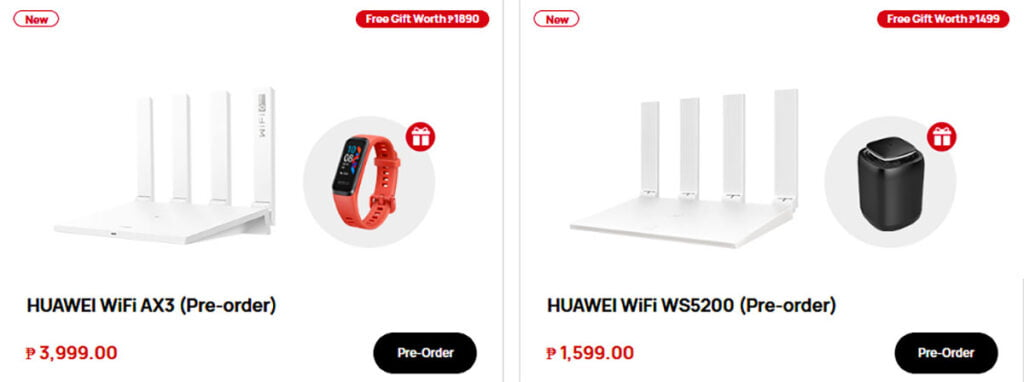 Huawei WiFi WS5200 and Huawei WiFi AX3 prices and features via Revu Philippines