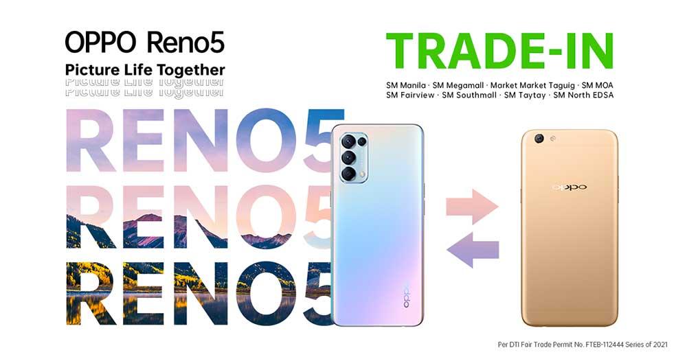 OPPO Reno 5 4G trade-in program for F series users via Revu Philippines