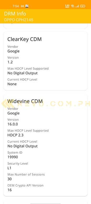 OPPO Reno 5 5G Widevine certification support via Revu Philippines