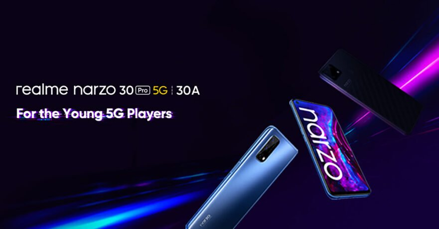 Realme Narzo 30 Pro 5G and Realme Narzo 30A launch teaser via Revu Philippines