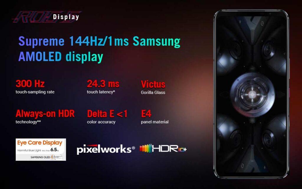 ASUS ROG Phone 5 series AMOLED display or screen details via Revu Philippines