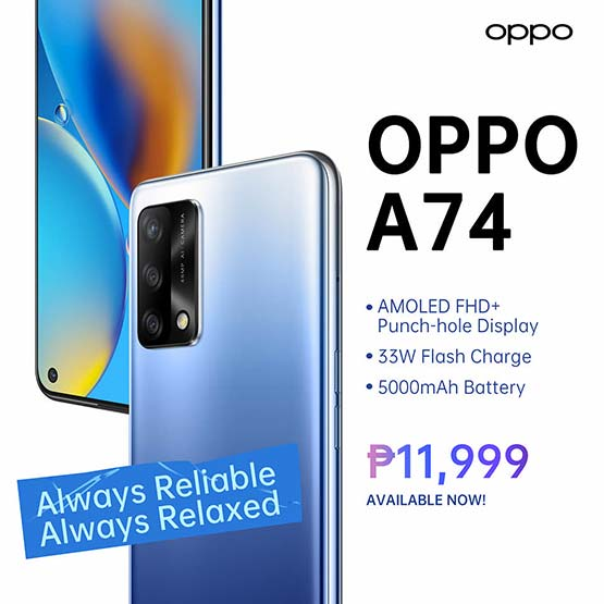 OPPO A74 price, specs, and availability via Revu Philippines