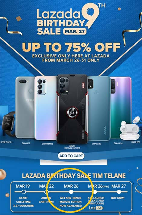 OPPO Reno 5 Marvel Edition spotted on Lazada by Revu Philippines