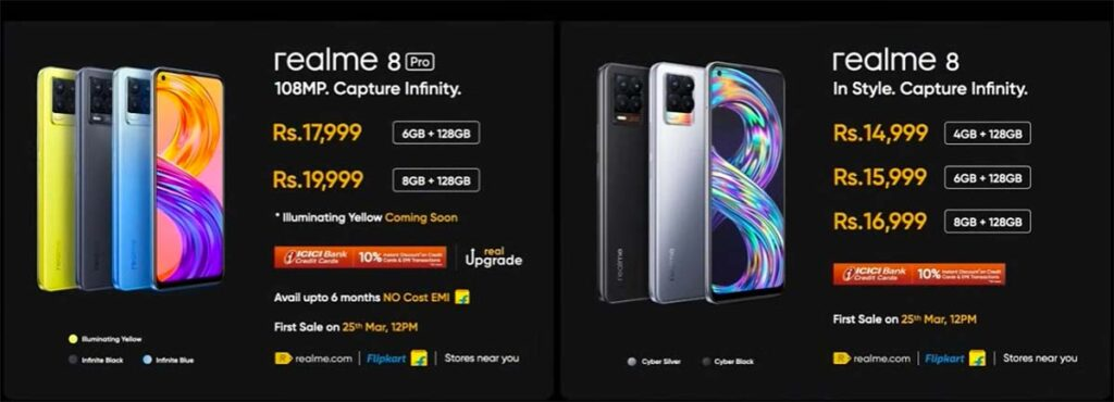 Realme 8 Pro and Realme 8 price and first sale details in India via Revu Philippines