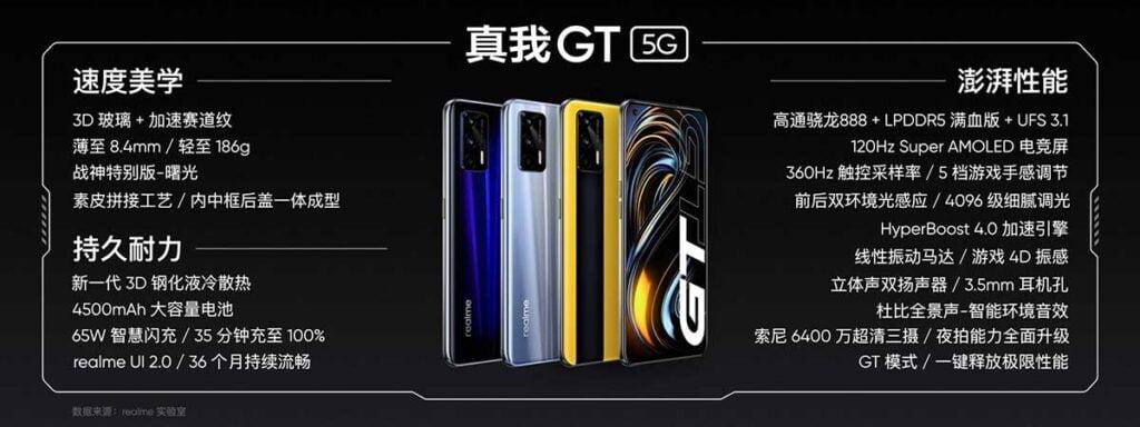 Realme GT 5G price, specs, and colors via Revu Philippines