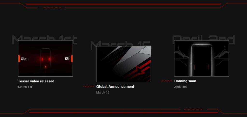RedMagic 6 series global launch timeline via Revu Philippines