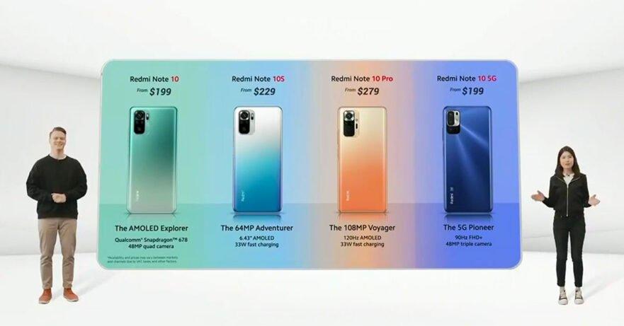 Xiaomi Redmi Note 10 series price and specs via Revu Philippines