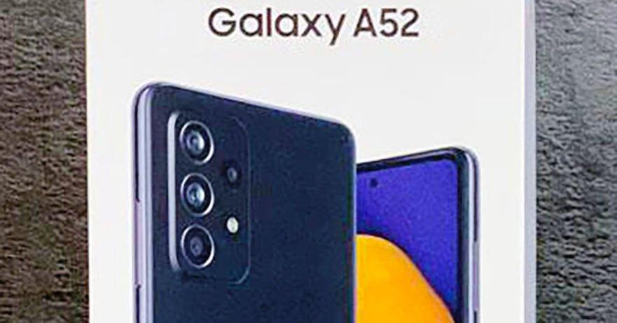 Samsung Galaxy A52 actual unit picture leak via Revu Philippines