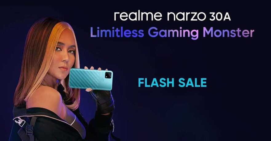 Kathryn Bernardo with the Realme Narzo 30A via Revu Philippines