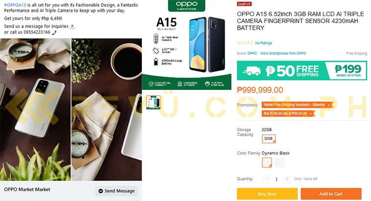 OPPO A15 spotted online by Revu Philippines