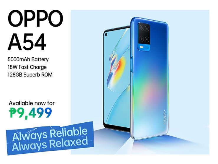 OPPO A54 price and specs via Revu Philippines