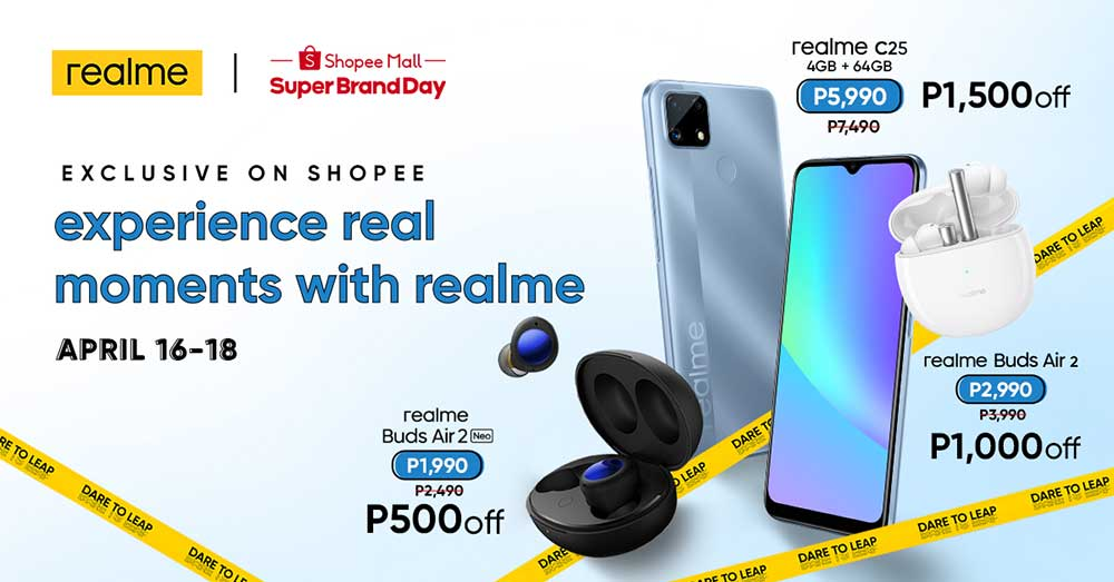 Realme C25, Realme Buds Air 2, and Realme Buds Air 2 Neo regular and sale prices and specs via Revu Philippines