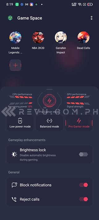 Realme C25 Game Space app via Revu Philippines