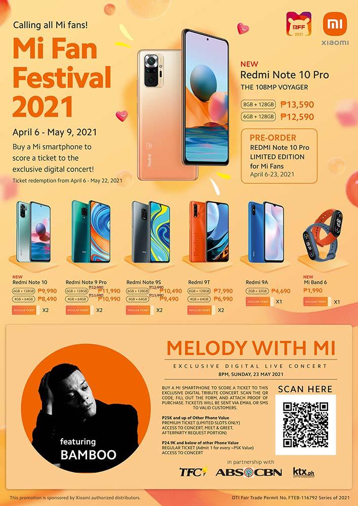 Xiaomi Melody with Mi virtual concert with Bamboo promo via Revu Philippines
