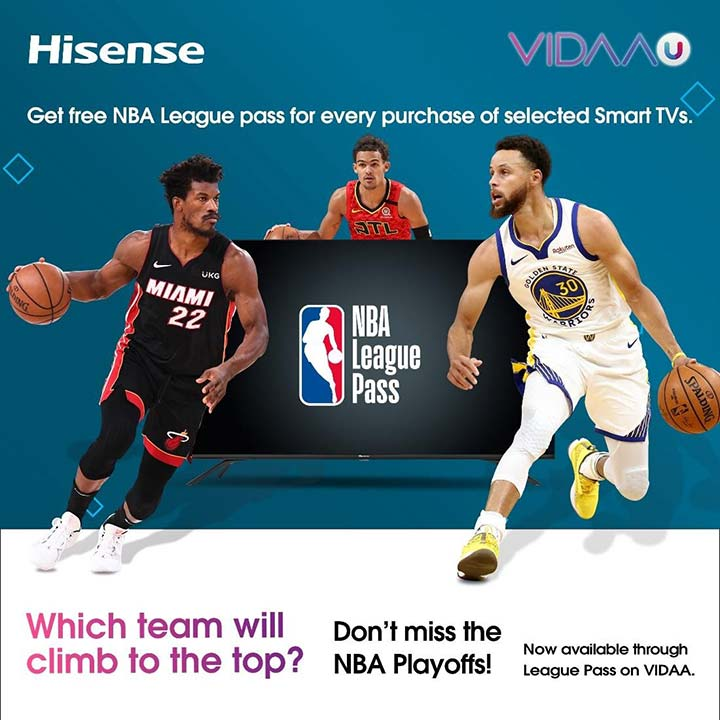 HiSense x NBA May to June 2021 promo via Revu Philippines