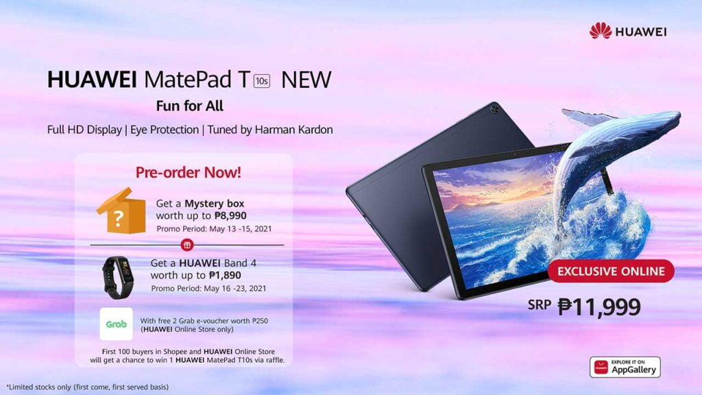 Huawei MatePad T 10s cheaper version price and preorder details via Revu Philippines