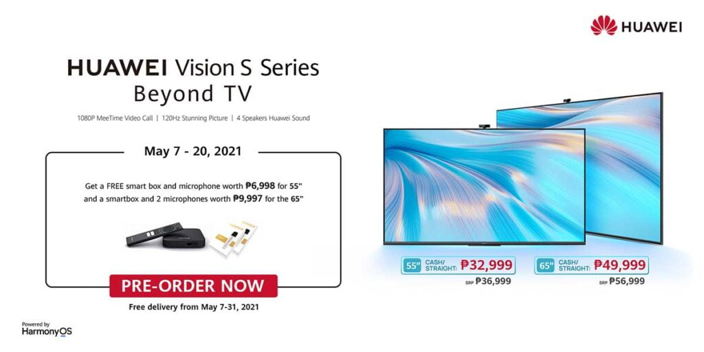 Huawei Vision S Series TV preorder period and price, freebies, and other details via Revu Philippines