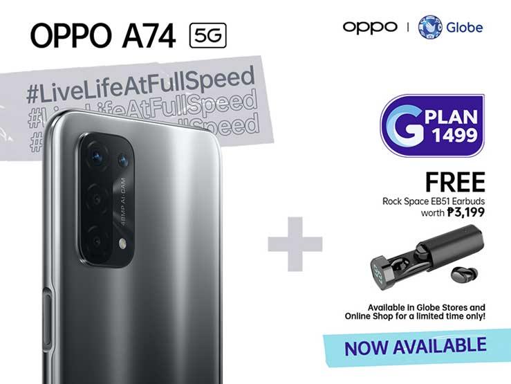 OPPO A74 5G Globe postpaid plan via Revu Philippines