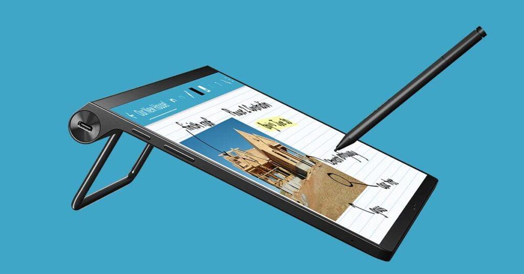 Lenovo Yoga Tab 13 or Lenovo Yoga Pad Pro in Tilt mode with pen price and specs via Revu Philippines