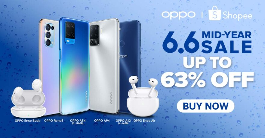 OPPO at the Shopee 6.6 Mid-Year Sale 2021 via Revu Philippines
