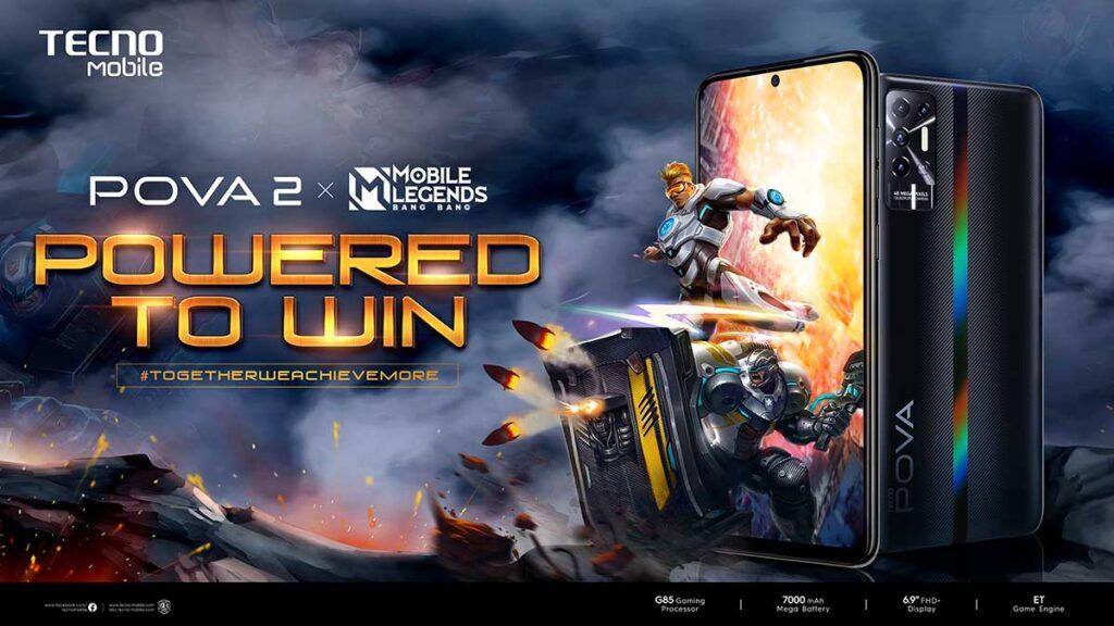Tecno POVA 2 and Mobile Legends Bang bang partnership via Revu Philippines