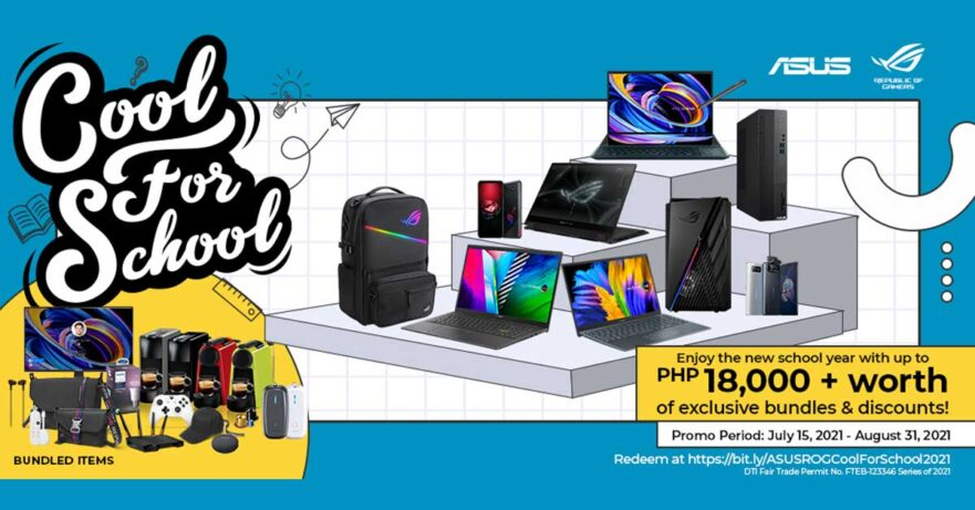 ASUS and ROG back-to-school promo 2021 via Revu Philippines