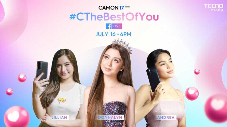 Tecno Camon 17 series livestream show with Donnalyn Bartolome, Andrea Brillantes, and Jillian Ward via Revu Philippines