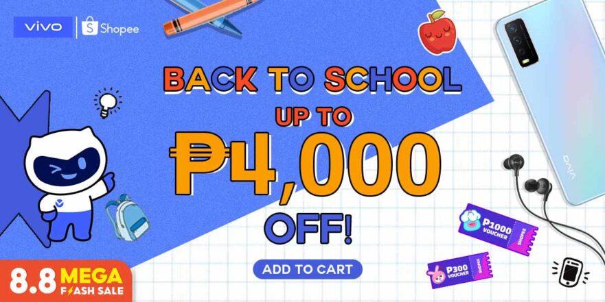 Discounted Vivo phones at Shopee 8.8 sale via Revu Philippines
