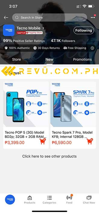 Tecno Pop 5 price and specs spotted on Lazada by Revu Philippines