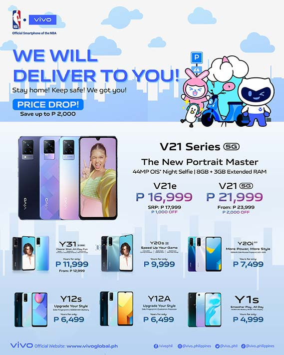 Vivo poster showing Vivo Y12A price and availability via Revu Philippines