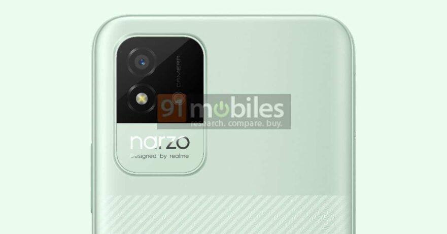 Realme Narzo 50i design leak via Revu Philippines