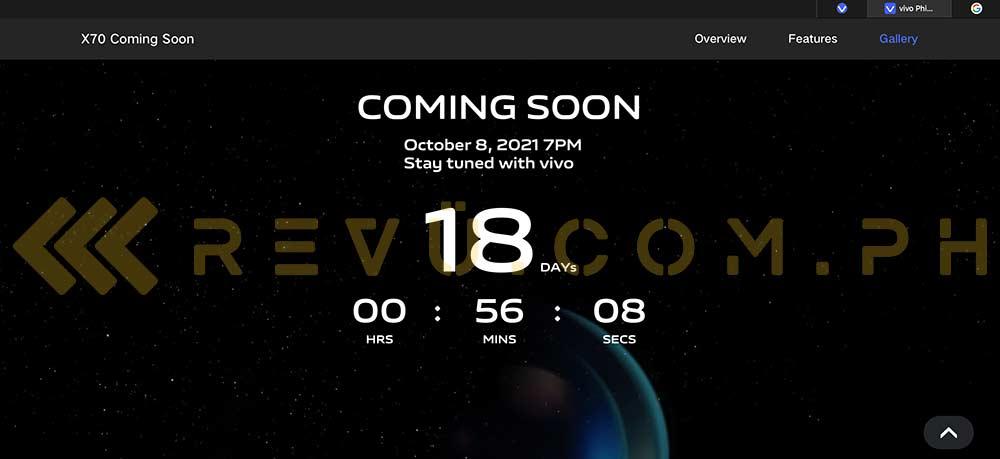 Exclusive: Vivo X70 5G Philippines launch teaser via Revu Philippines